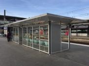 2015 - Gare Nanterre Université - Abris voyageurs en composites