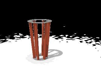 Poubelle en profilés composites KONIC®