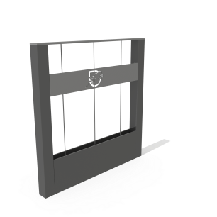 Barrière de sécurité avec bac de végétalisation Kubic®