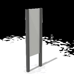 Signalétique à 2 poteaux composites KUBIC®