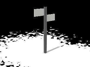 Poteau de signalétique en composites KUBIC®